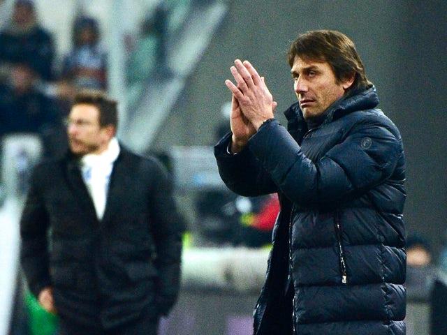 Juventus' coach Antonio Conte gestures during their Serie A football match Juventus vs Sassuolo at 'Juventus Stadium' in Turin on December 15, 2013