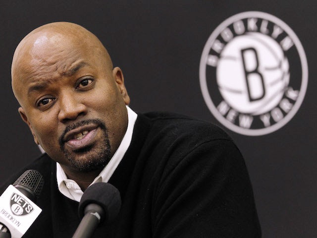 Brooklyn Nets general manager Billy King announces the firing of head coach Avery Johnson during a news conference at the PNY Center on December 27, 2012