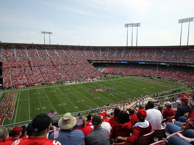 General view during the season opener between the San Francisco 49ers and the Seattle Seahawks at Candlestick Park on September 11, 2011
