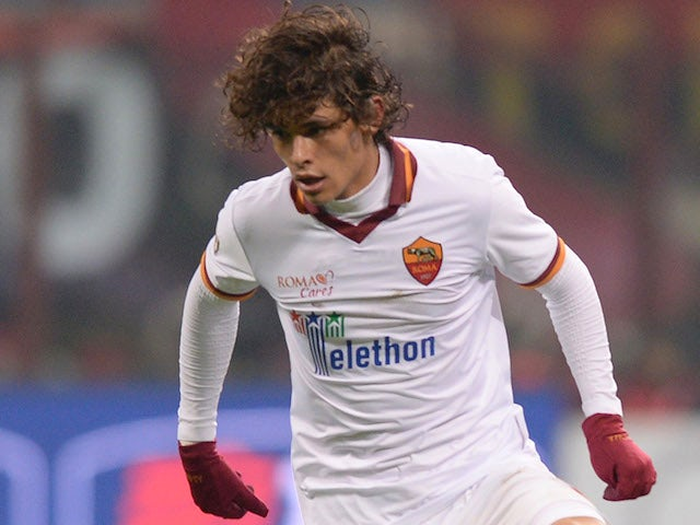 Dodo of AS Roma in action during the Serie A match between AC Milan and AS Roma at San Siro Stadium on December 16, 2013