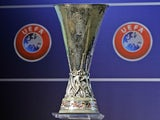 A general shot of the Europa League trophy on June 24, 2013
