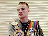 British and Commonwealth Welterweight Champion Frankie Gavin during a press conference on October 29, 2013