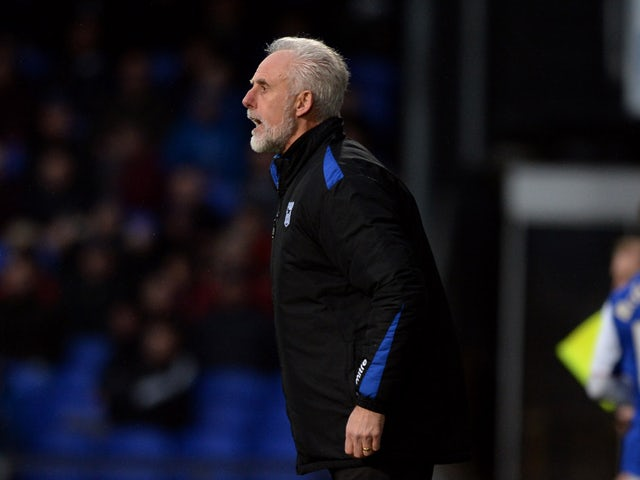 Manager Mick McCarthy of Ipswich Town shouts from the touchline during the Sky Bet Championship match between Ipswich Town and Watford at Portman Road on December 21, 2013