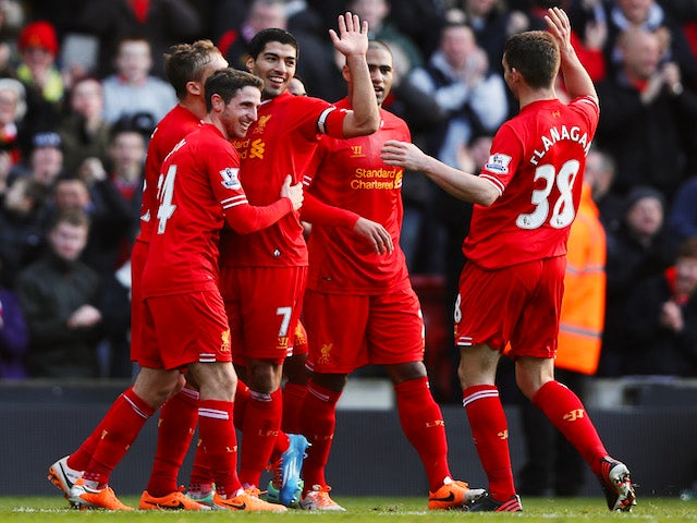 Result: Suarez scores twice in Liverpool win