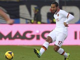 Mehdi Benatia of AS Roma in action during the Serie A match between Atalanta BC and AS Roma at Stadio Atleti Azzurri d'Italia on December 1, 2013