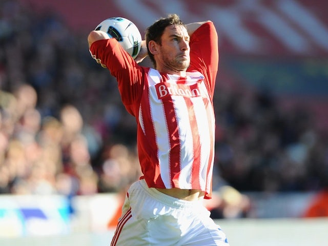 Rory Delap of Stoke City launches a long throw on October 24, 2010