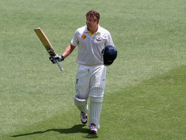 Shane Watson of Australia leaves the ground after being run out for 103 runs during day four of the Third Ashes Test Match between Australia and England at WACA on December 16, 2013
