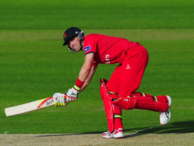 Lancashire batsman Stephen Moore picks up some runs during the Friends Life T20 match between Durham and Lancashire at Emirates Durham ICG on June 28, 2013