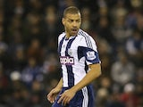 Steven Reid of West Bromwich runs with the ball during the Premier League match between West Bromwich Albion and Manchester City at The Hawthorns on December 4, 2013