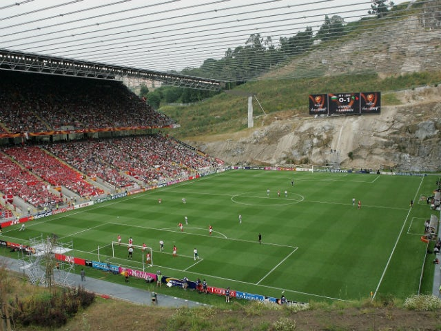 A general view of play during the UEFA Euro 2004, Group C match between Bulgaria and Denmark at the Municiple de Braga Stadium on June 18, 2004