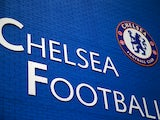 Chelsea badge is seen on a blue wall ahead of the Barclays Premier League match between Chelsea and Swansea City at Stamford Bridge on December 26, 2013