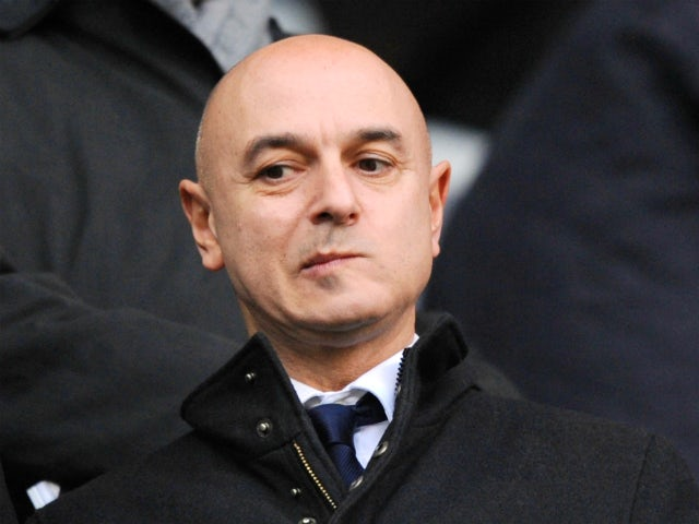 Spurs chairman Daniel Levy watches from the stands during the Barclays Premier League match between Tottenham Hotspur and West Bromwich Albion on December 26 2013