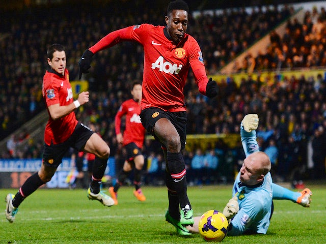 Result: Welbeck scores from bench as United win