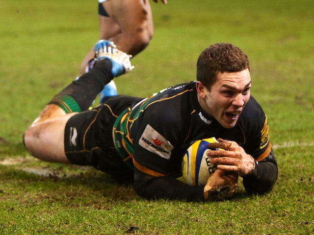 George North returns to Northampton training