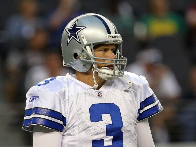 Jon Kitna #3 of the Dallas Cowboys at Cowboys Stadium on September 26, 2011