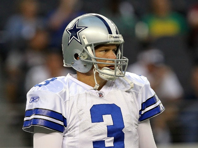 Jon Kitna #3 of the Dallas Cowboys at Cowboys Stadium on September 26, 2011
