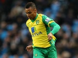 Josh Murphy of Norwich City in action during the Barclays Premier League match between Manchester City and Norwich City at Etihad Stadium on November 2, 2013