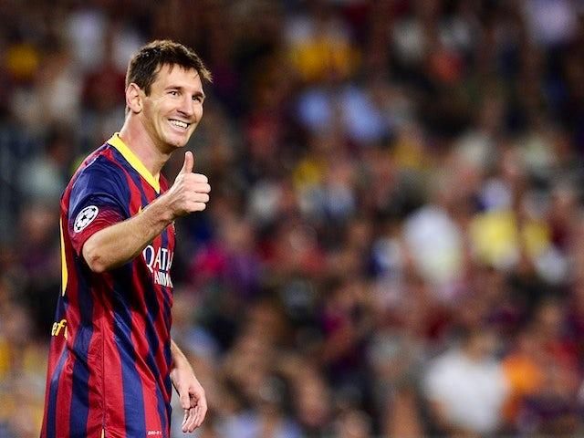 Result: Messi scores brace on return