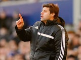 Southampton manager Mauricio Pochettino gestures on the touchline against Everton during their Premier League match on December 29, 2013