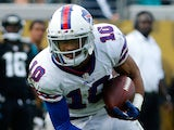 Robert Woods of the Buffalo Bills runs for yardage during the game against the Jacksonville Jaguars at EverBank Field on December 15, 2013