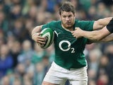 Ireland's Sean O'Brien in action against New Zealand during an international match on November 24, 2013