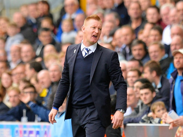 Manager of Millwall Steve Lomas makes a point during the Sky Bet Championship match between Millwall and Queens Park Rangers at The Den on October 19, 2013