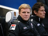 Bournemouth manager Eddie Howe during the Sky Bet Championship match between Brighton & Hove Albion and AFC Bournemouh at The Amex Stadium on January 01, 2014
