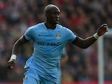 Eliaquim Mangala in action for Manchester City on November 30, 2014
