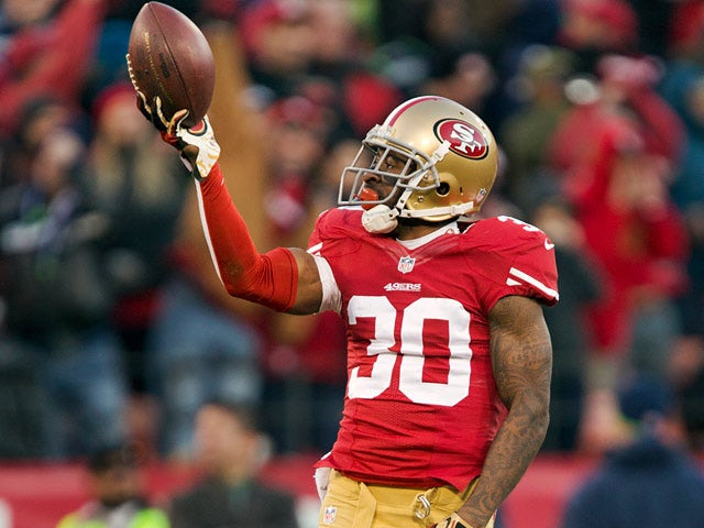 San Francisco 49ers' Eric Wright in action against Seattle Seahawks on December 8, 2013