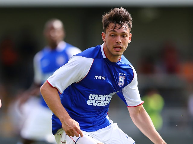 Frederic Veseli of Ipswich Town in action during the pre season friendly match between Barnet and Ipswich Town at The Hive on July 20, 2013