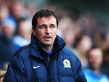 Blackburn manager Gary Bowyer prior to kick-off against Man City in their FA Cup third round match on January 4, 2013