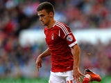 Nottingham Forest's Jamie Paterson in action against Hartlepool during their League Cup match on August 6, 2013