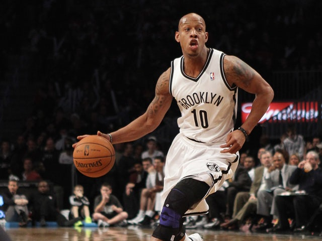 Keith Bogans #10 of the Brooklyn Nets dribbles the ball against the Philadelphia 76ers at Barclays Center on December 23, 2012