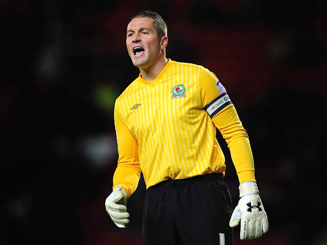 Blackburn's Paul Robinson in action against Cardiff during their Championship match on December 7, 2012