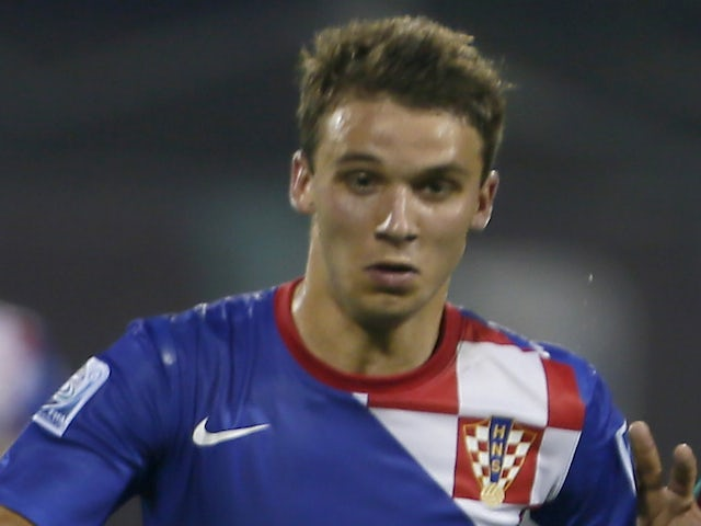 Croatia's Robert Muric during their FIFA U-17 World Cup UAE 2013 football match in the United Arab Gulf emirate of Fujairah, on October 18, 2013