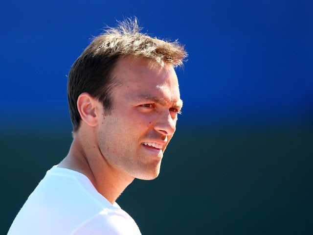 Ross Hutchins of Great Britain looks on during previews ahead of the Davis Cup World Group play-off tie between Croatia and Great Britain at Stadion Stella Maris on September 12, 2013