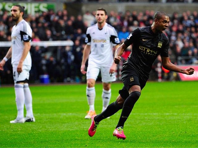Result: Man City go top with Swansea win