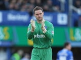Trevor Carson of Portsmouth in action during the Sky Bet League Two match between Portsmouth and Northampton Town at Fratton Park on December 29, 2013