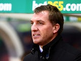 Liverpool manager Brendan Rodgers looks on prior to kick-off against Stoke during their Premier League match on January 12, 2014