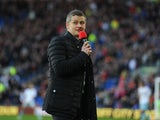New Cardiff manager Ole Gunnar Solskjaer adresses the crowd before the Barclays Premier League match between Cardiff City and West Ham United at Cardiff City Stadium on January 11, 2014