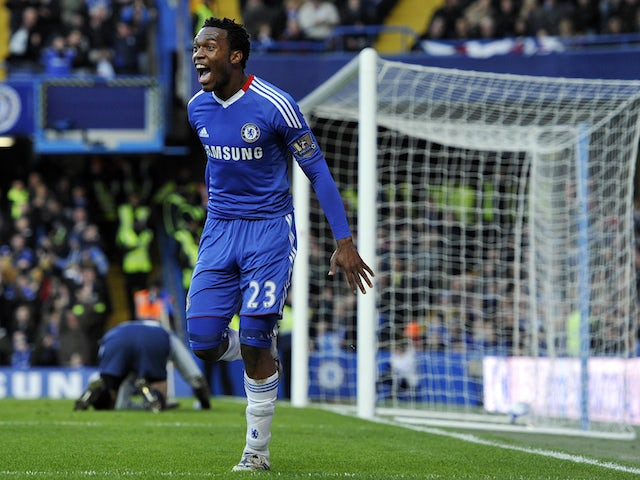 Chelsea's English striker Daniel Sturridge celebrates scoring the second goal during their FA Cup third round football match against Ipswich at Stamford Bridge, London, England, on January 9, 2011