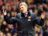 Manchester Uniteds Scottish manager David Moyes reacts during a League Cup semi-final first leg match between Sunderland and Manchester United on January 7, 2014