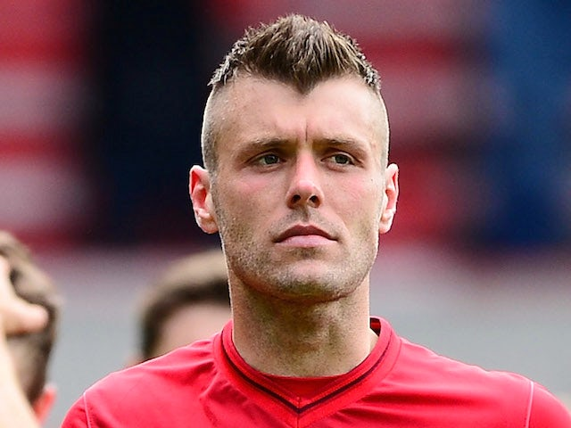 Elliott Ward of Nottingham Forest shows his dissapointment in defeat after an npower Championship match on May 4, 2013