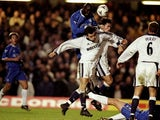 George Weah scores on his Chelsea debut against Tottenham Hotspur on January 12, 2000.