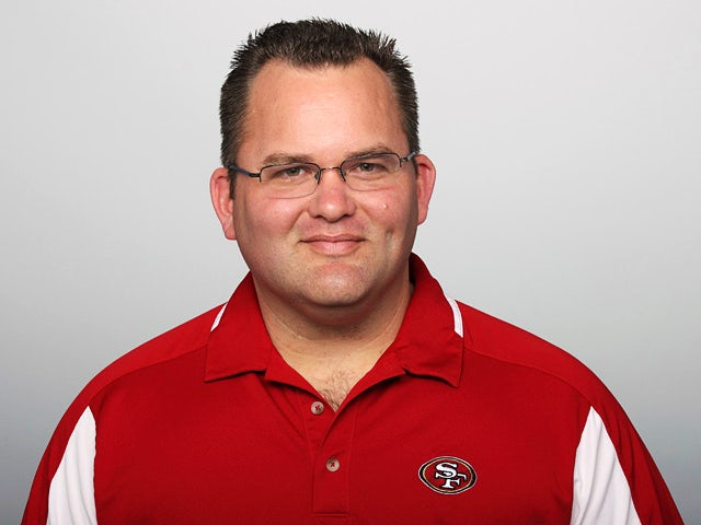 Headshot of Greg Roman, the offensive coordinator for the San Francisco 49ers on January 1, 2011
