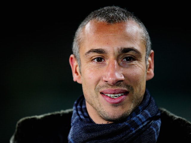 Henrik Larsson prior to kick-off during the Champions League match between Celtic and Barcelona on February 12, 2013