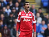 Jay Bothroyd of Queens Park Rangers reacts during the Barclays Premier League match between Reading and Queens Park Rangers at the Madejski Stadium on April 28, 2013