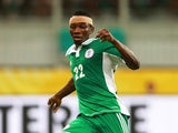 Kenneth Omeruo of Nigeria in action during the FIFA Confederations Cup Brazil 2013 Group B match between Nigeria and Uruguay at Estadio Octavio Mangabeira (Arena Fonte Nova Salvador) on June 20, 2013