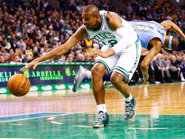 Boston Celtics' Leandro Barbosa in action against Denver Nuggets on February 10, 2013