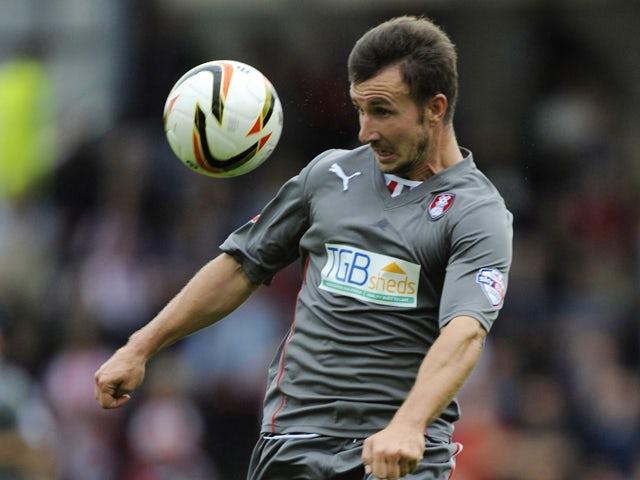 Matt Tubbs of Rotherham United in action during the Sky Bet League One match between Brentford and Rotherham United at Griffin Park, on October 05, 2013
